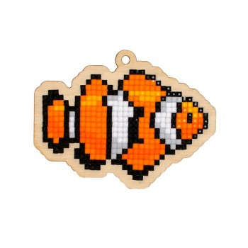 Pez Payaso Nemo con Diamantes Wizardi WWP260 Clown Fish