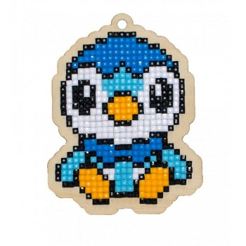 Pollito Azul con Diamantes Wizardi WWP197 bird