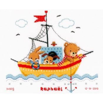 Natalicio Navegando en Barco Vervaco PN-0168466 Boat Sailing