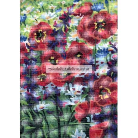 Amapolas Silvestres Collection D'Art 6319K Poppy Field
