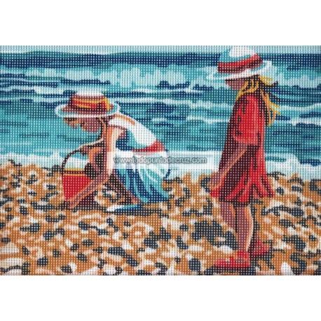 Niñas en la Playa Collection D'Art 6323K Collecting Shells