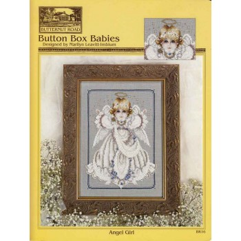 Ángel Niña Butternut Road BR16 Button Box Babies Angel Girl