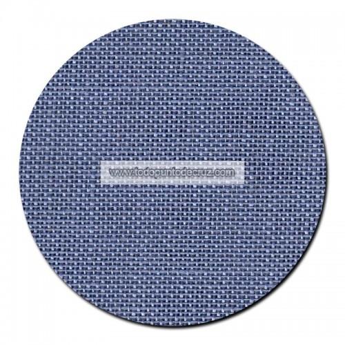 Tela lino 28 ct. Azul Plata