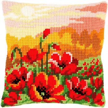 Cojín Campo de Amapolas Vervaco PN-0157583 Poppy Meadow Cushion