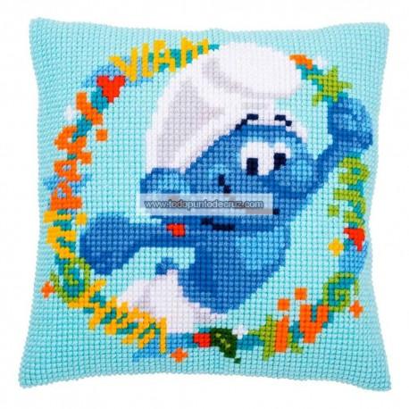 Cojín Pitufos Vervaco PN-0185159 Smurf Pillow
