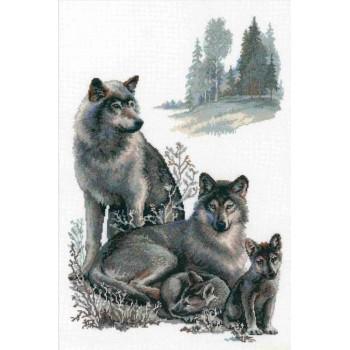 Familia de Lobos RIOLIS 100/021 Wolves
