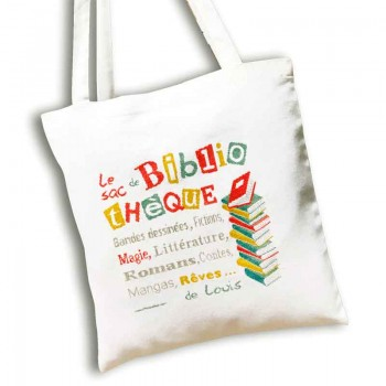 Tote Bag Libros Lili Point SAC07 Biblioteque