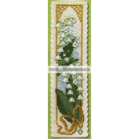 Marcapáginas Lirio del Valle Textile Heritage BKLV Lily of the Valley