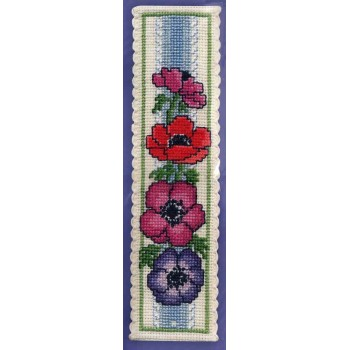 Marcapáginas Anémonas Textile Heritage BKAN Anemones bookmark