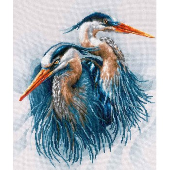 Grandes Garzas Azules Lanarte PN-0185890 great blue herons