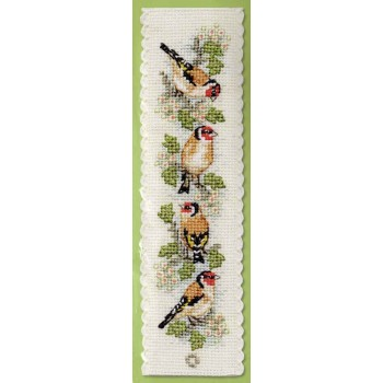 Jilgueros Marcapáginas Textile Heritage BKGM Goldfinches Bookmark