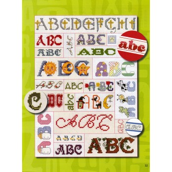Gran Colección de Abecedarios Leisure Arts 4362 Big Collection of Alphabets