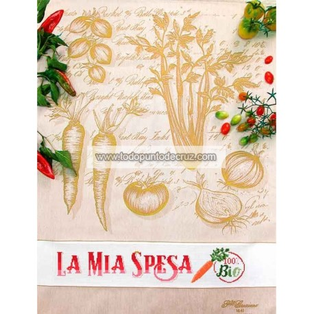 Paño de cocina Zanahorias Fratelli Graziano Sedano Ginestra