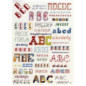 Galería de Abecedarios Leisure Arts 3071 136 Alphabet Charts