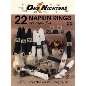 22 motivos para Servilleteros Jeanette Crews 401 22 Napkin Rings