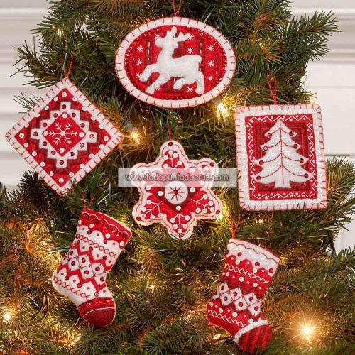 Adornos Fieltro Navidad Nórdica