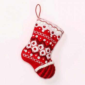Adornos Fieltro Navidad Nórdica Bucilla Plaid 86964 Nordic Christmas Felt Ornaments