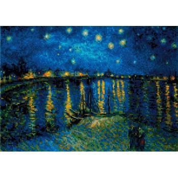 Noche Estrellada sobre el Ródano Van Gogh RIOLIS 1884 Starry NIght Rhone