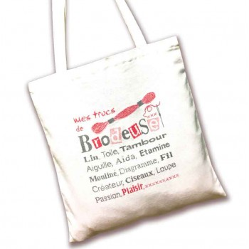 Tote Bag Mis Trucos de Bordado Lili Points SAC01 Brodeuse
