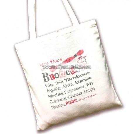 Tote Bag Mis Trucos de Bordado Lili Points SAC01 Brodeuse
