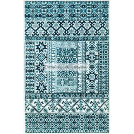 Azul Español Sampler Cove Designs SC1015 Spanish Bleu