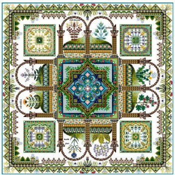 Mandala Jardín de Hierbas Medieval Chatelaine Herbularius Medieval Herb Garden