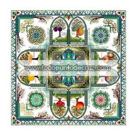 Mandala del Jardín Frutal Medieval Chatelaine Pomarium CHAT121 Medieval Fruit Garden