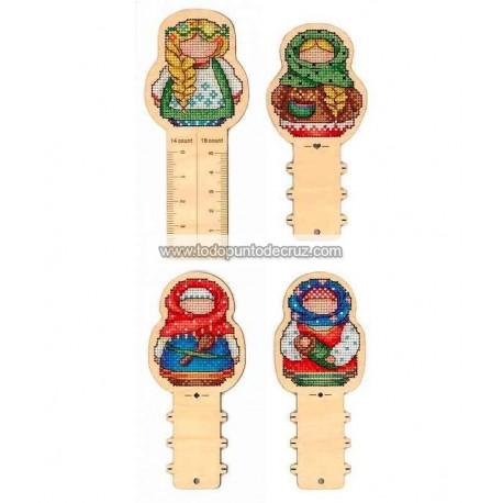 Accesorios Matriuskas en Madera MP Studia O 005 Russian Amulets Ruler + 3 reels