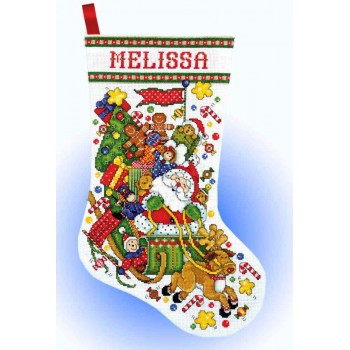 Bota el Trineo de Santa Design Works 5951 Santa Sleigh Stocking