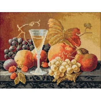 Bodegón con vino y frutas Panna N-1234 still life with wine and fruits