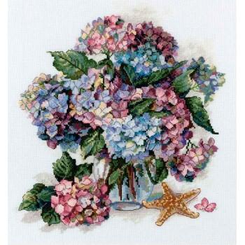 Hortensias en Malva y Azul Merejka K-178 Hydrangea