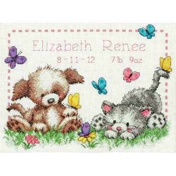 Natalicio Mascotas Dimensions 70-73883 Pet Friends Birth Record