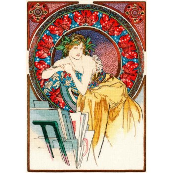 Chica con Caballete (Mucha) RIOLIS 100/059 Girl with easel
