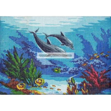 Delfines en el Fondo del Mar Collection D'Art Dolphins