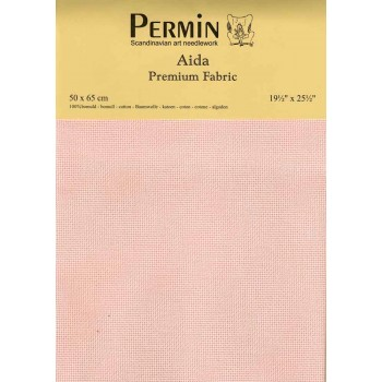 Tela aida 16 ct. Rosa Permin 355-302 Pink