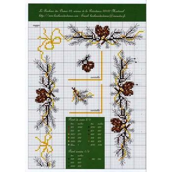 Fascículo Mantel de Navidad Le Bonheur des Dames FA17