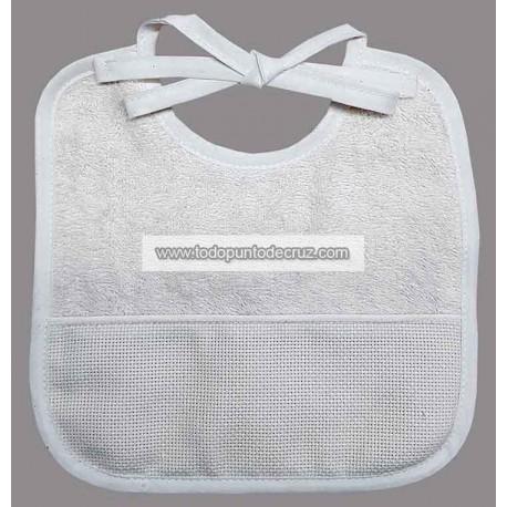 Babero Pequeño Blanco Terry Towel
