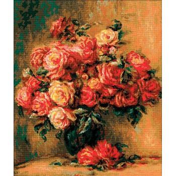 Ramo de Rosas Renoir RIOLIS 1402 Bouquet of Roses by Renoir