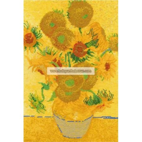 Los Girasoles de Van Gogh DMC BL1063 National gallery Sunflowers