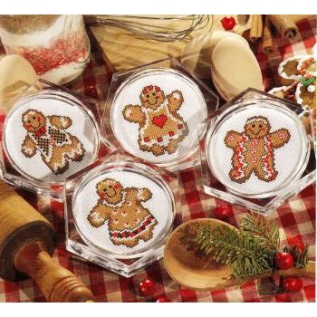 Posavasos Gengibre Leisure Arts 6275 coasters Gingerbread
