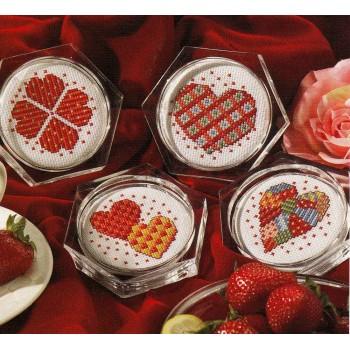 Posavasos Corazones Leisure Arts 6275 coasters Hearts