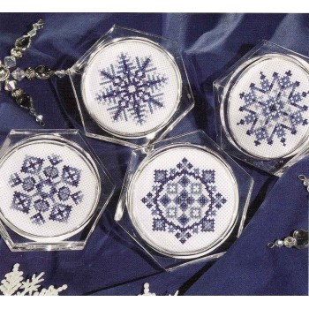 Posavasos Copos de Nieve Leisure Arts 6275 coasters Snowflakes