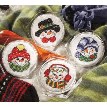 Posavasos Muñecos de nieve Leisure Arts 6275 coasters Snowmen