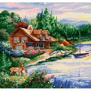 Cabaña a la orilla del lago Design works 2767 Lakeside Cabin