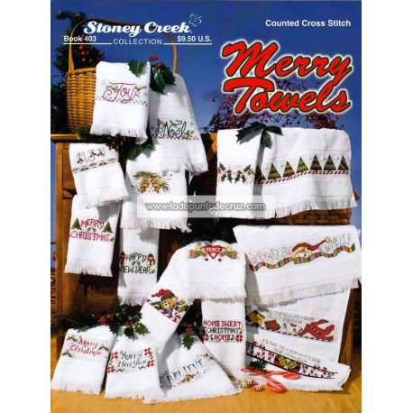 Feliz Navidad para toallas Stoney Creek 403 Merry Towels