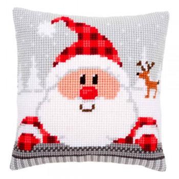 Cojín Santa de Nariz Roja Vervaco PN-0148061 Santa in a plaid hat