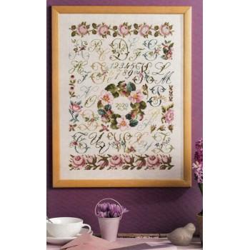 15 abecedarios de flores Creation Point de Croix abecedaires fleuris