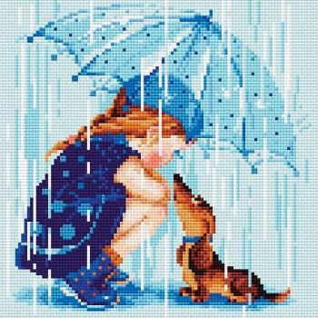 Bajo mi paraguas RIOLIS AM0023 under my umbrella diamonds