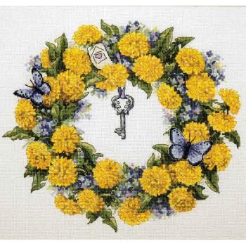 Corona de Diente de León Merejka K-97 Dandellion Wreath