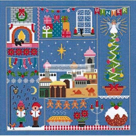 Una puntada para cada estación Invierno Little Dove Designs A Stitch for all seasons winter